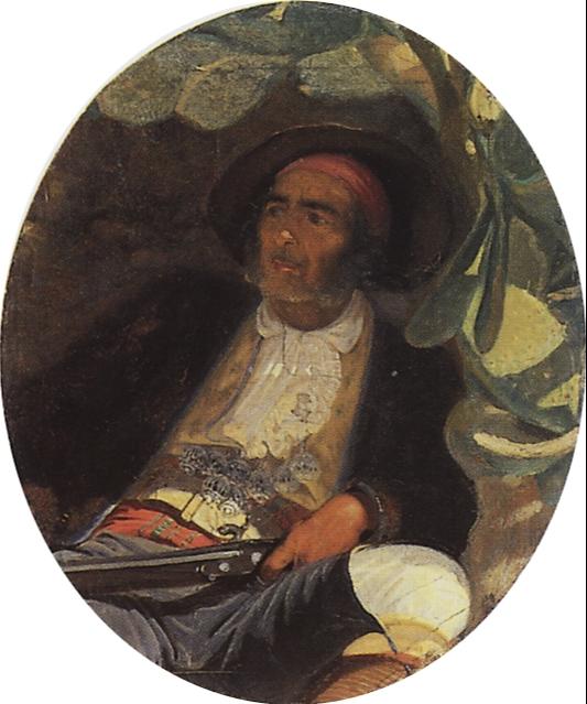 Grigory Grigorievich Myasoedov. Hispanic. Etude. State Tretyakov Gallery, Moscow