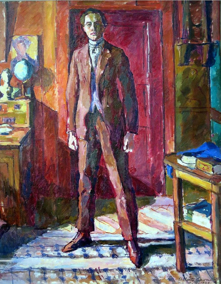 Alberto Giacometti. Portrait of Diego standing in the living room