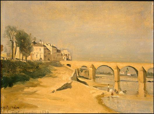 Камиль Коро. Река и мост
