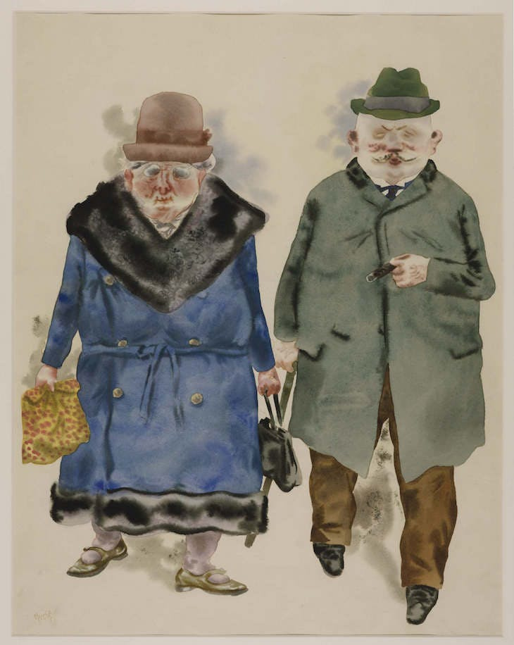 George Grosz. A Married Couple