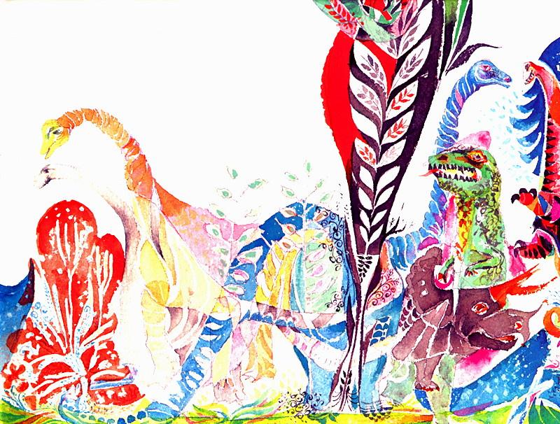 Ernie Kabat. Bright dinosaurs