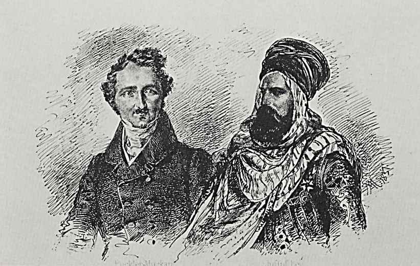 Адольф фон Менцель. Херман Людвиг Генрих, князь Пюклер-Мускау и Юсуф-бей