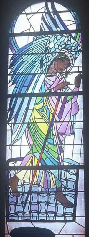 Peter Ivanovich Cold. Angel is walking. Stained Glass Church of the Assumption of the Virgin