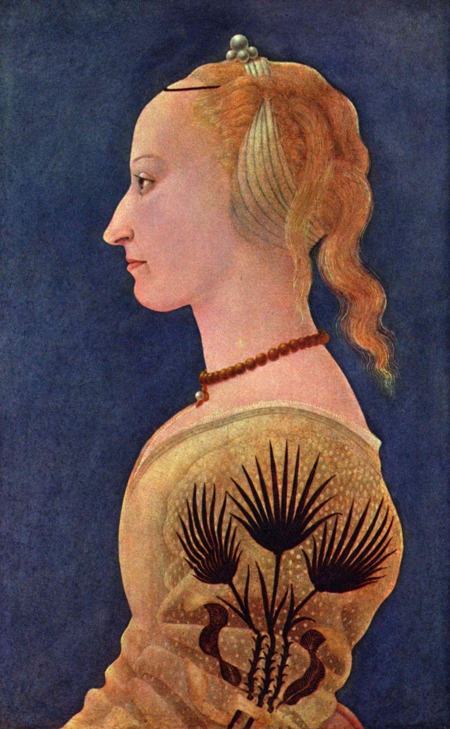 Alessio Baldovinetti. The portrait of a lady in yellow