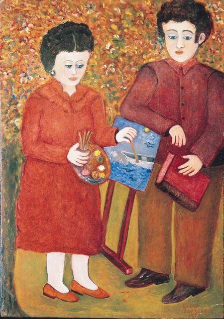 Elena Andreevna Volkova. Self-portrait with son