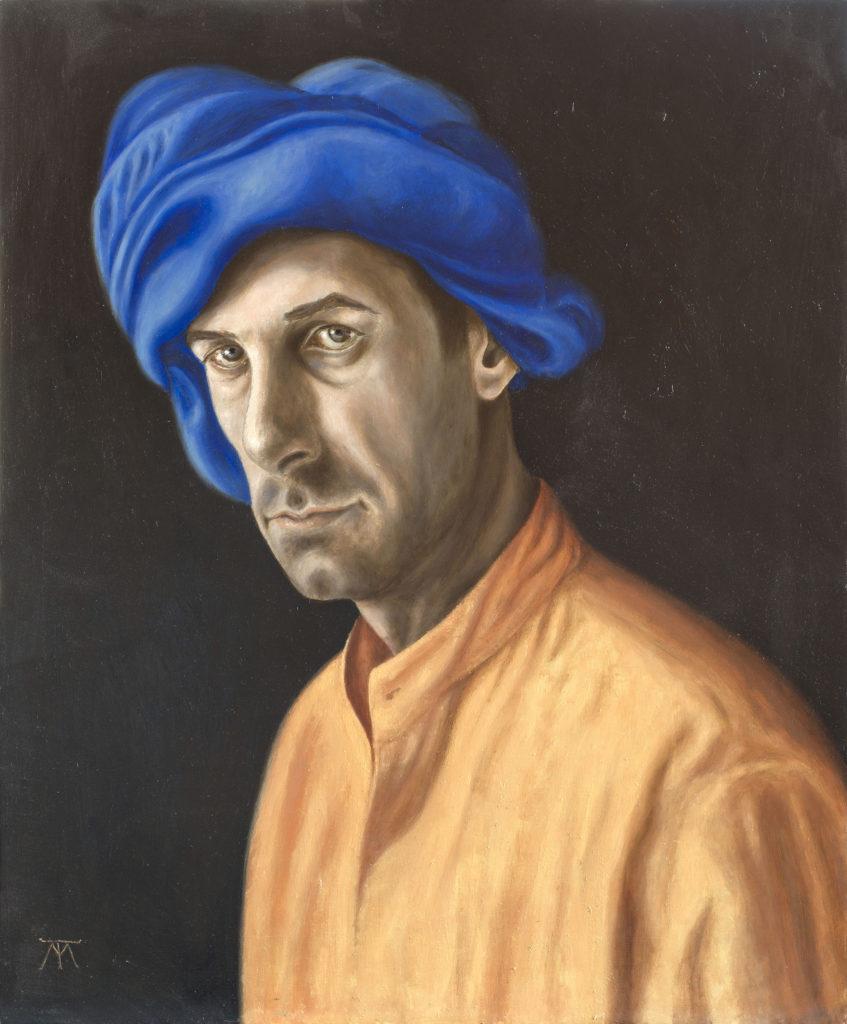 Tito Marchi (Marcy). Self-portrait in turban