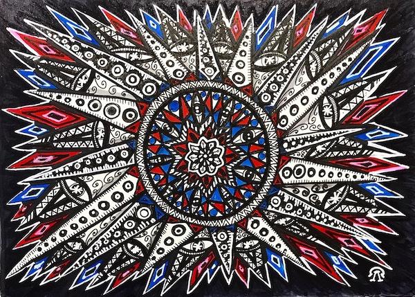 Larissa Lukaneva. Zen Doodling.