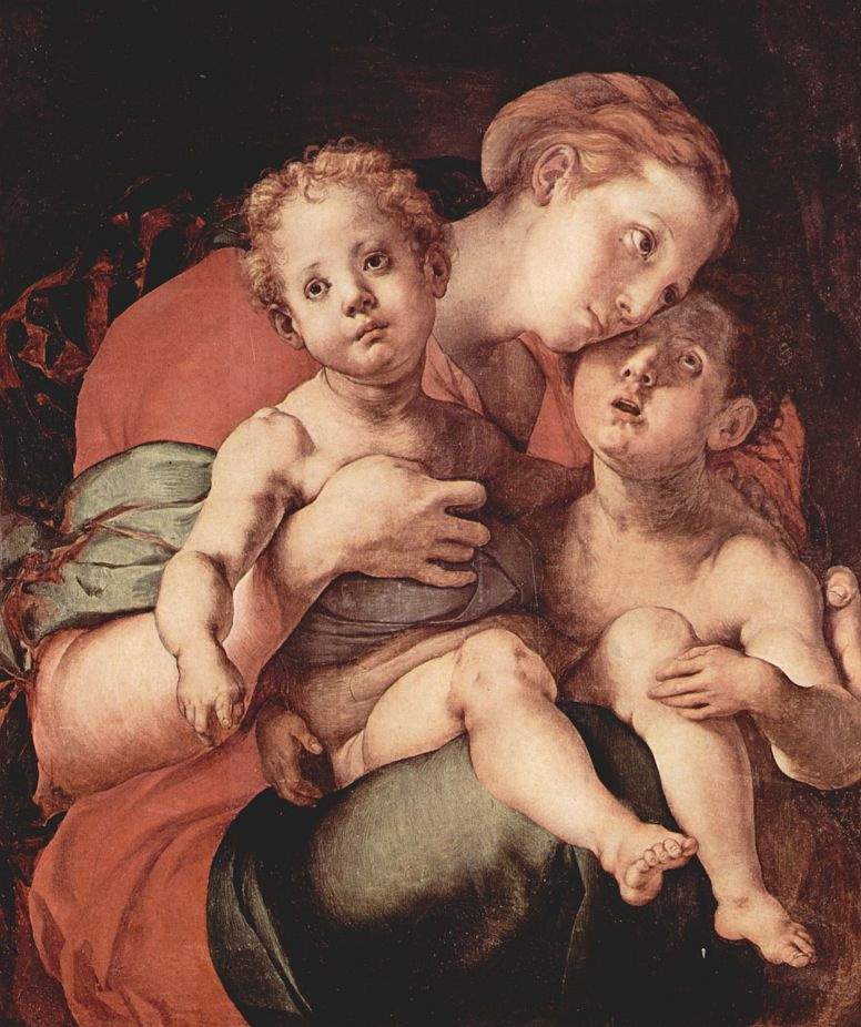Jacopo Pontormo. Madonna with John the Baptist