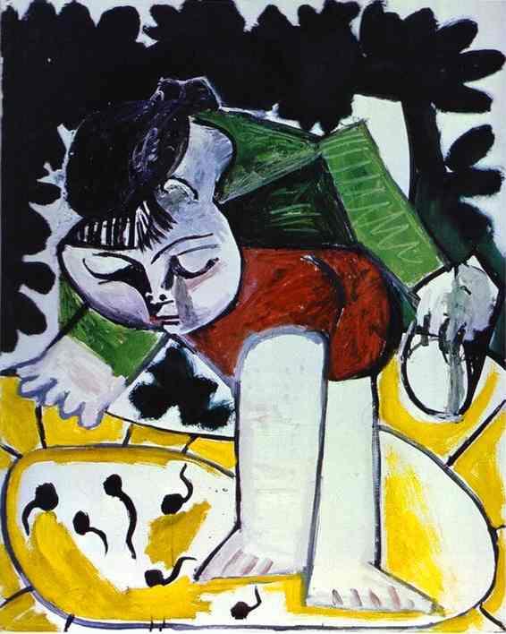 Пабло Пикассо. Палома играет с головастиками