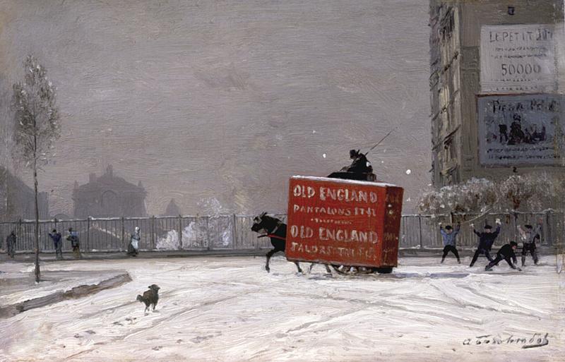 Алексей Петрович Боголюбов. Зима в Париже