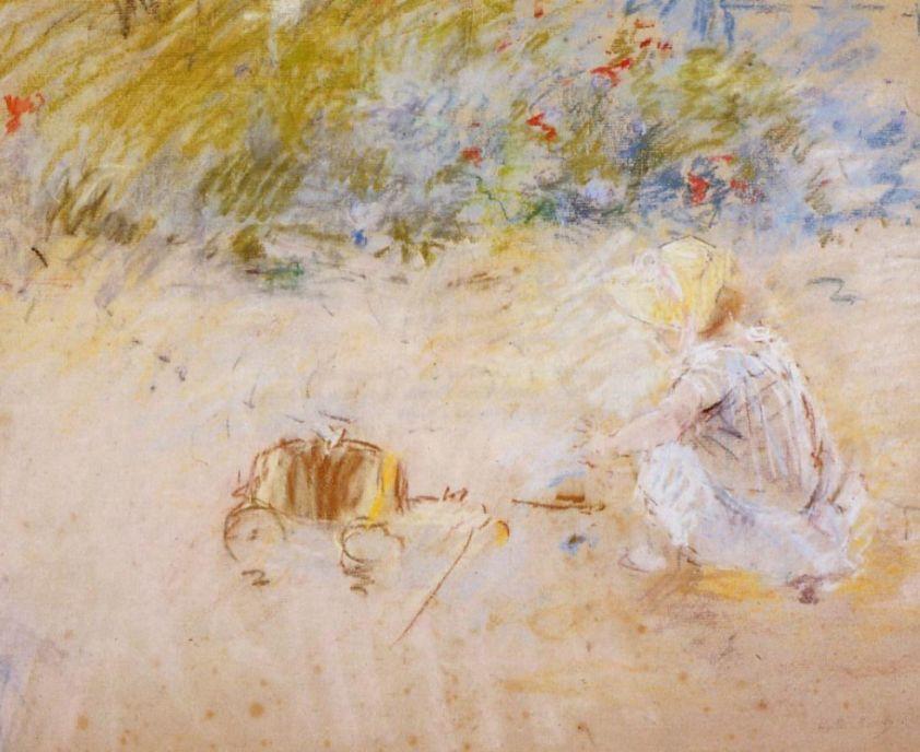 Берта Моризо. Ребенок, играющий в саду