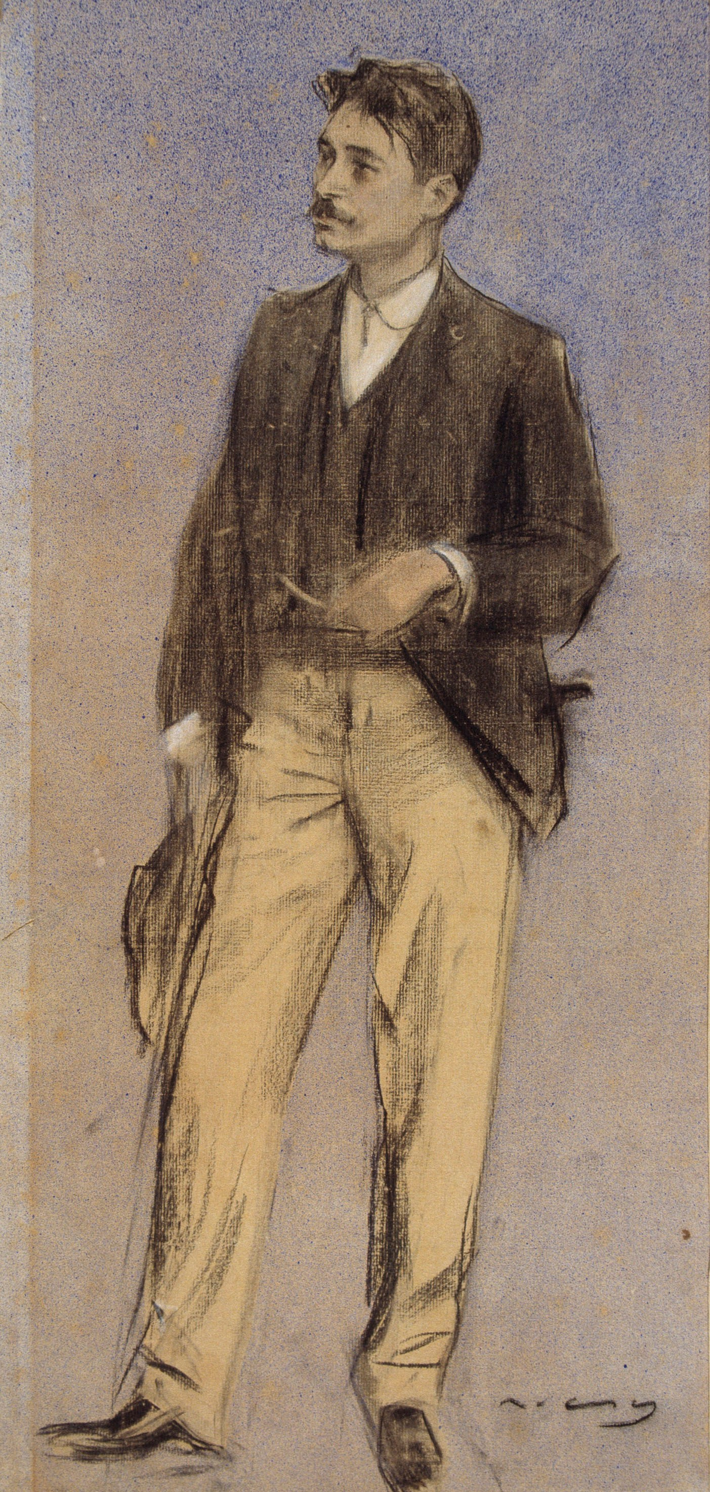 Ramon Casas i Carbó. Portrait of louis millet