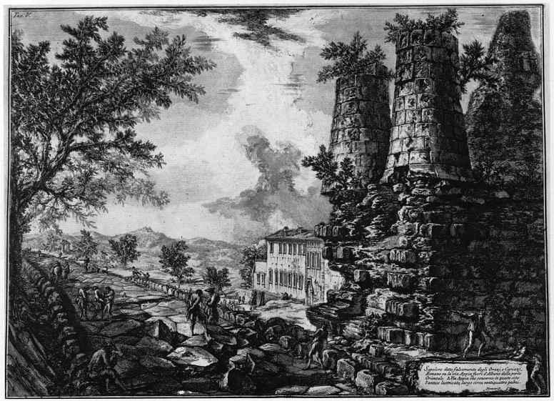 Джованни Баттиста Пиранези. Так называемая гробница Горациев и Куриациев