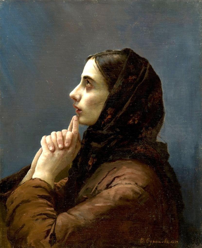Василий Иванович Суриков. Молодая женщина в молитве