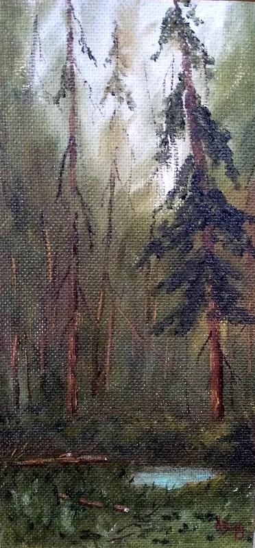 Сергей Николаевич Ходоренко-Затонский. In the forest more often