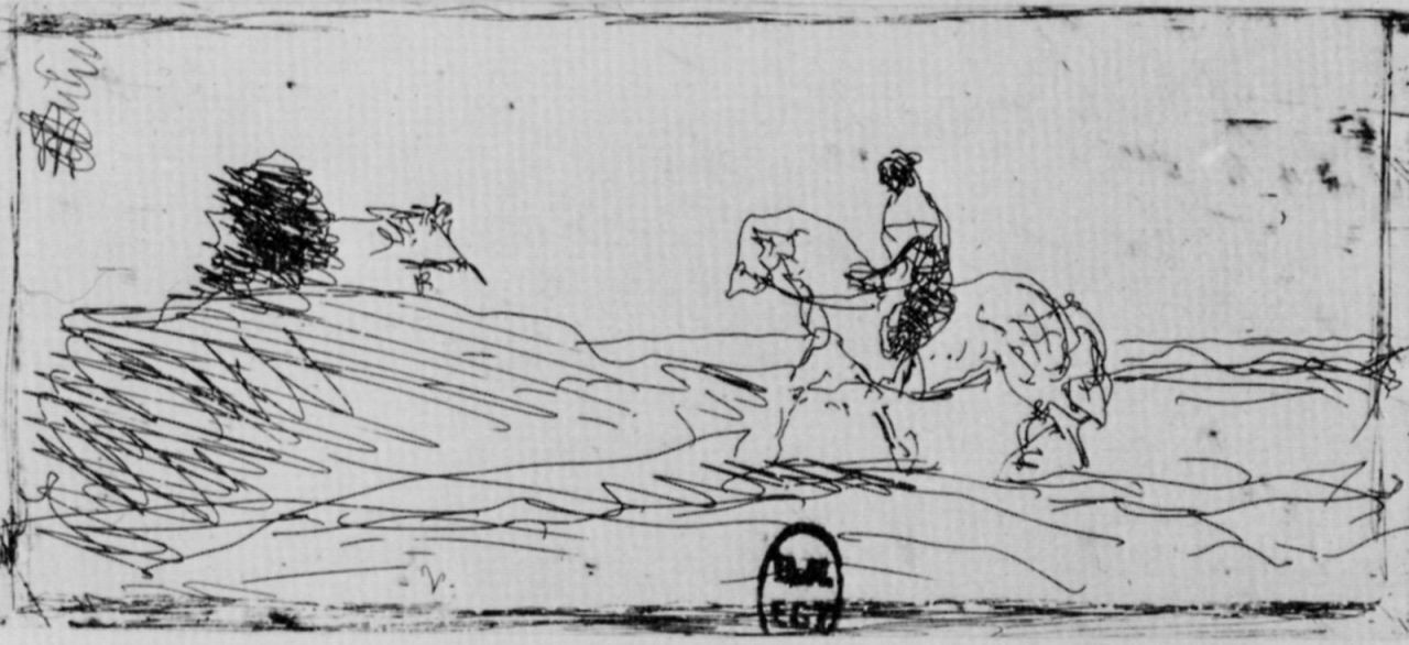 Камиль Коро. Визитная карточка конника
