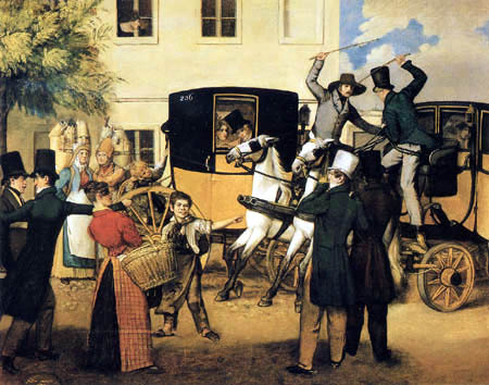 Johann Michael Neder. Controversy of the Coachmen