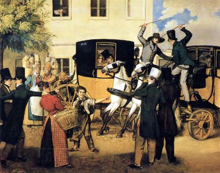 Johann Michael Neder. Controversy of the Coachmen