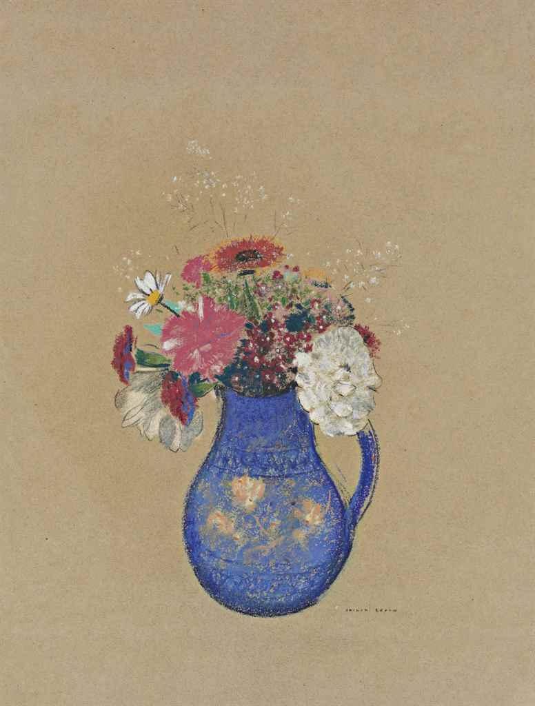Одилон Редон. Цветы в вазе
