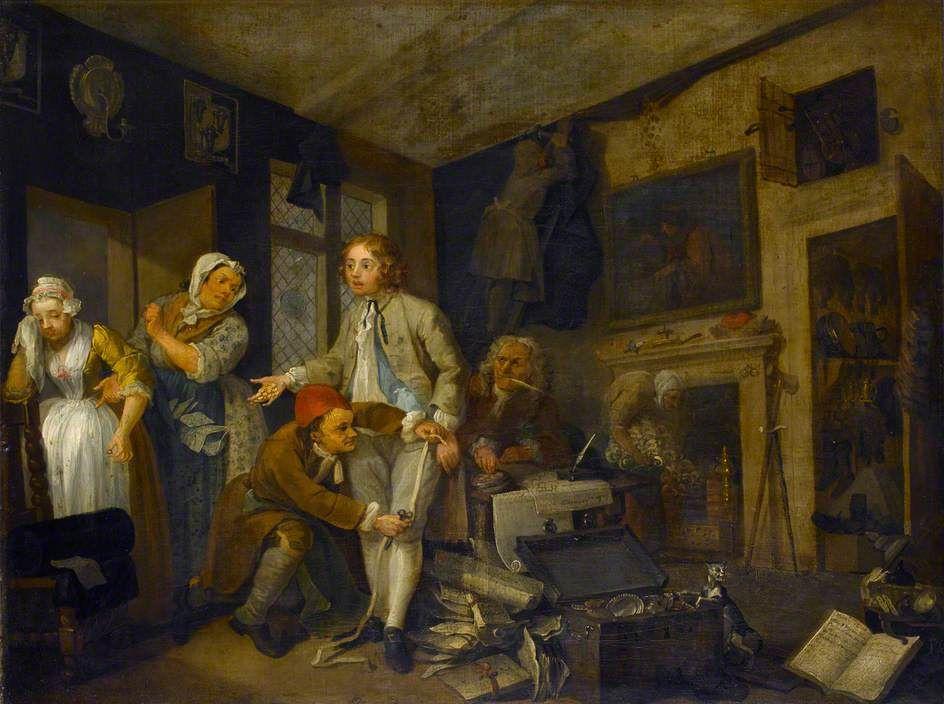 William Hogarth. The rake taking possession of his estate