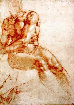 Микеланджело Буонарроти. Исследование обнаженной натуры
