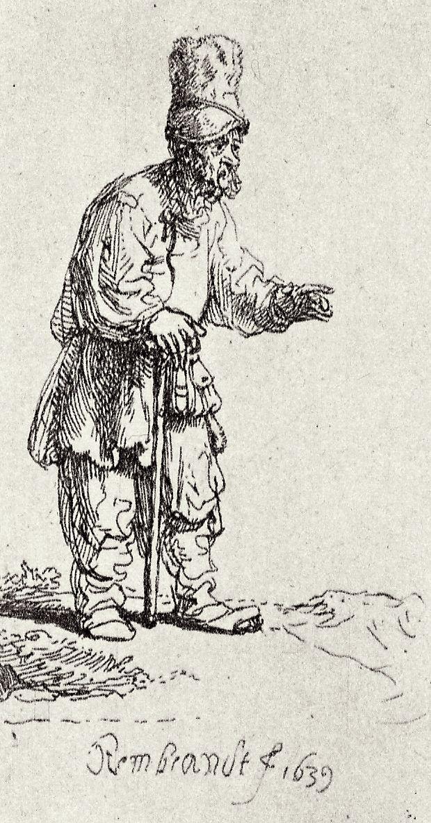 Rembrandt Harmenszoon van Rijn. A Jew in a high cap