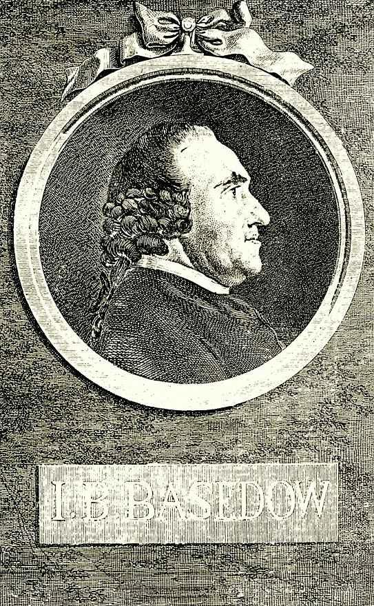 Даниэль  Николай Ходовецкий. Портрет Иоганна Бернхарда Базедова