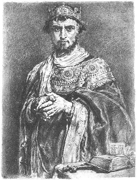 "Jan Matejko. Kazimierz Restorer. Series ""Portraits of Kings and Princes of Poland"""