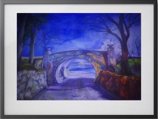 Daria Astra. Dragon bridge at night