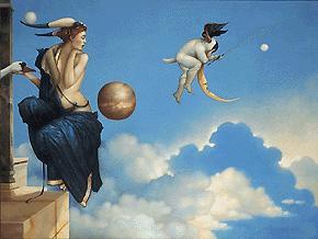 Michael Parkes. The moon