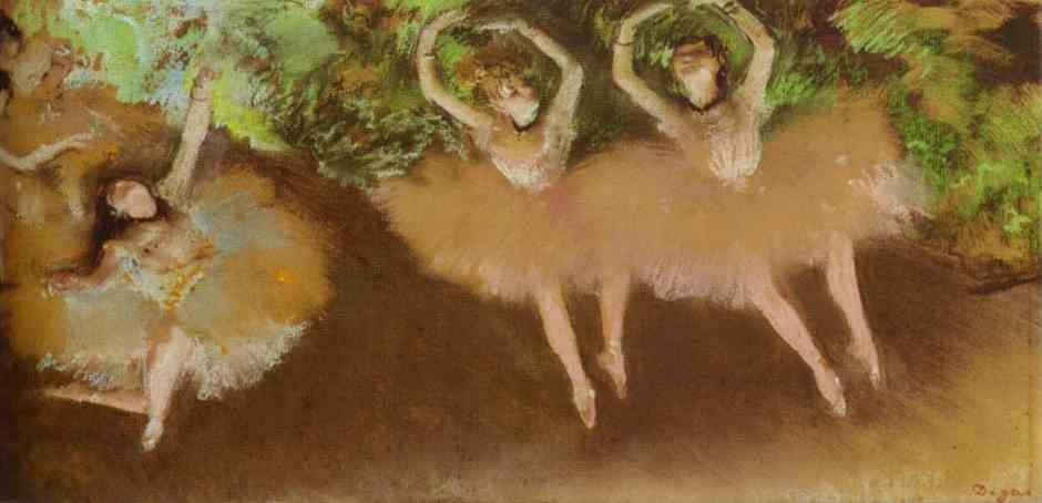 Эдгар Дега. Сцена из балета