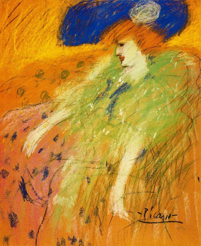 Пабло Пикассо. Женщина в синей шляпе