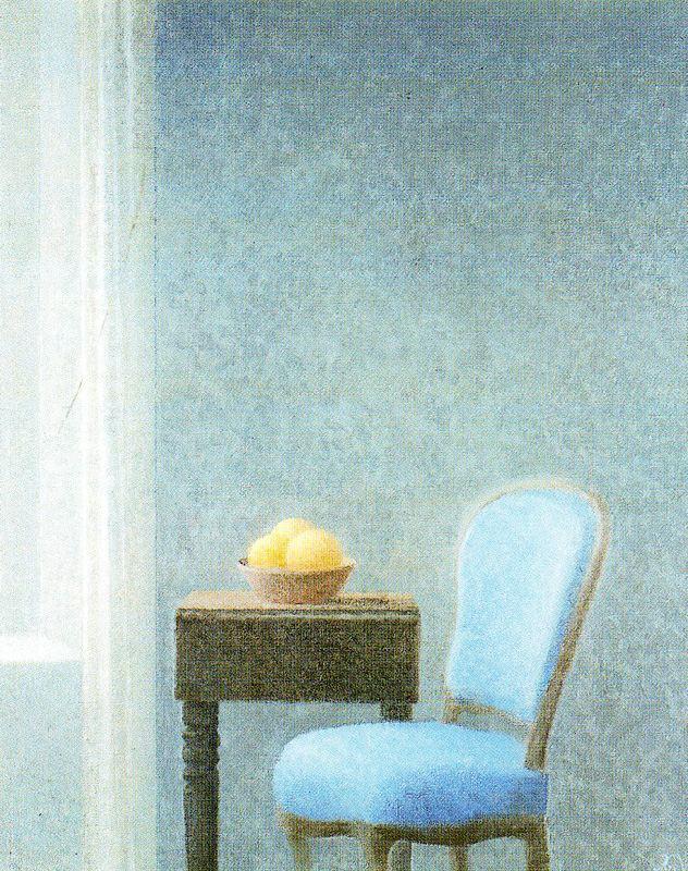 Javier Waltz. Chair. Still life with lemons