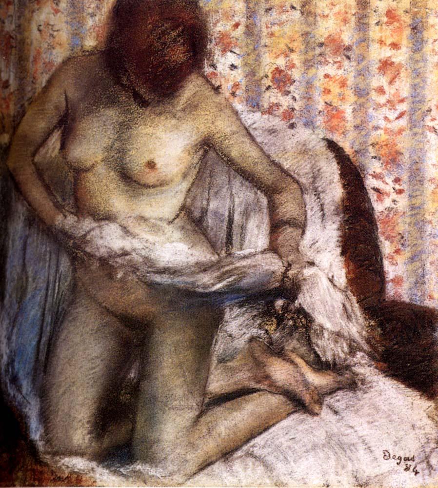 Эдгар Дега. Туалет (Женщина, вытирающаяся после ванны)