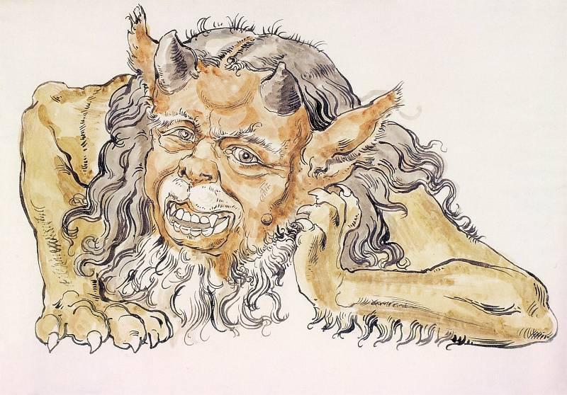 Ян Матейко. Смеющийся демон. Проект для церкви Святой Марии