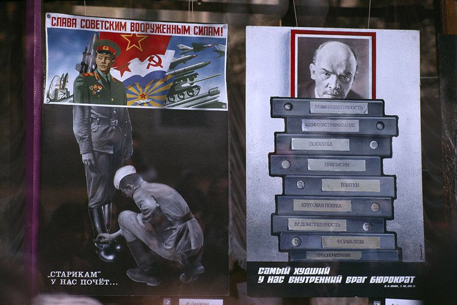 Historical photos. Posters in support of publicity and the exhibition of Stalinist crimes in Odessa