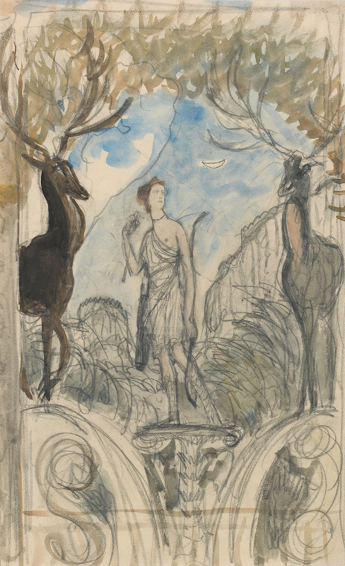 Valentin Aleksandrovich Serov. Diana and Actaeon. A sketch of the mural in the dining room of the house Bow in Moscow.