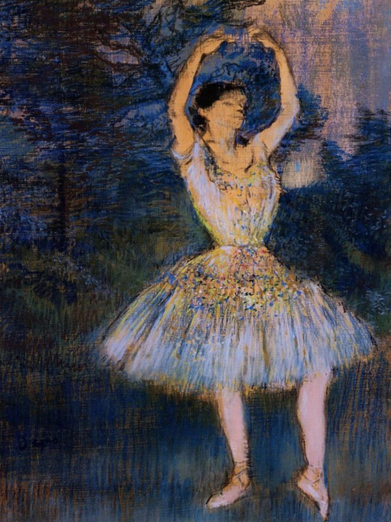 Edgar Degas. Dancer with raised arms
