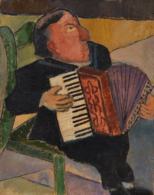 Михаил Федорович Ларионов. Музыкант с аккордеоном