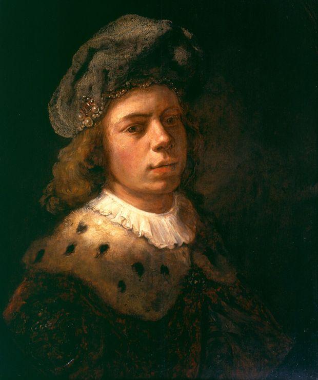 Samuel van Hogstraaten. Self-portrait with turban