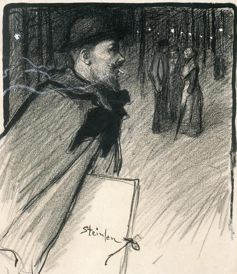 Theophile-Alexander Steinlen. Self-portrait