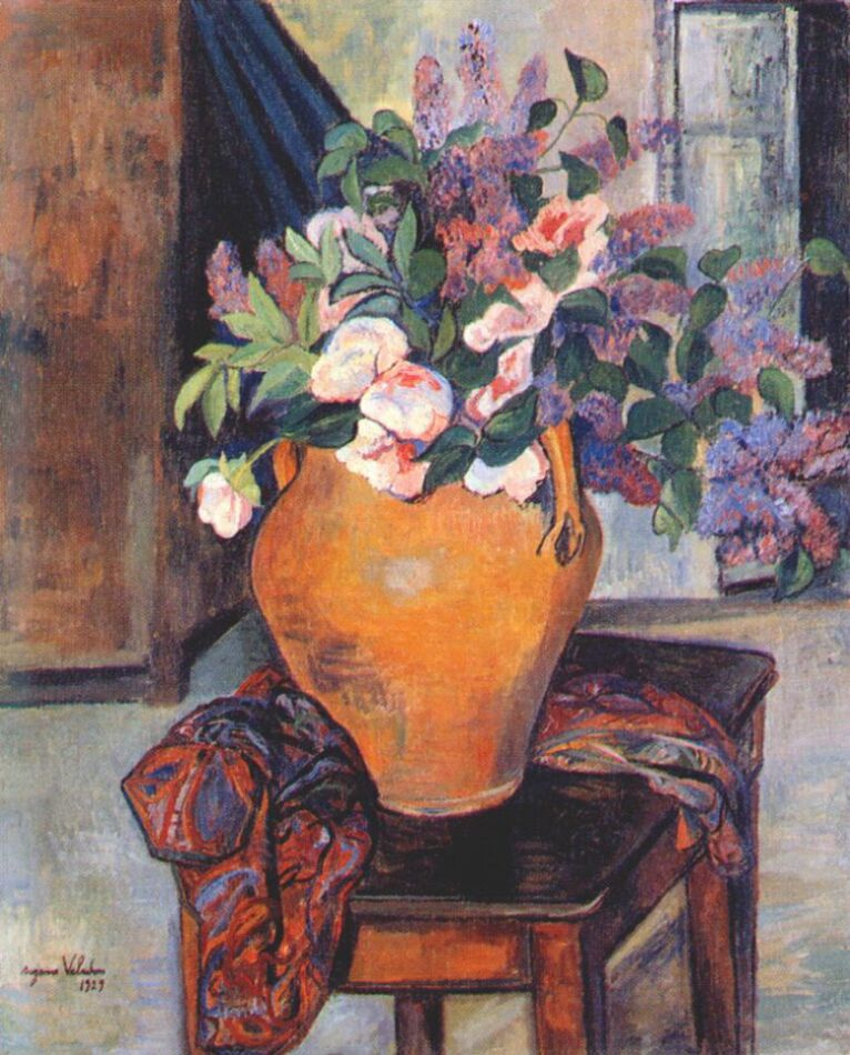 Suzanne Valadon. Peonies and lilacs