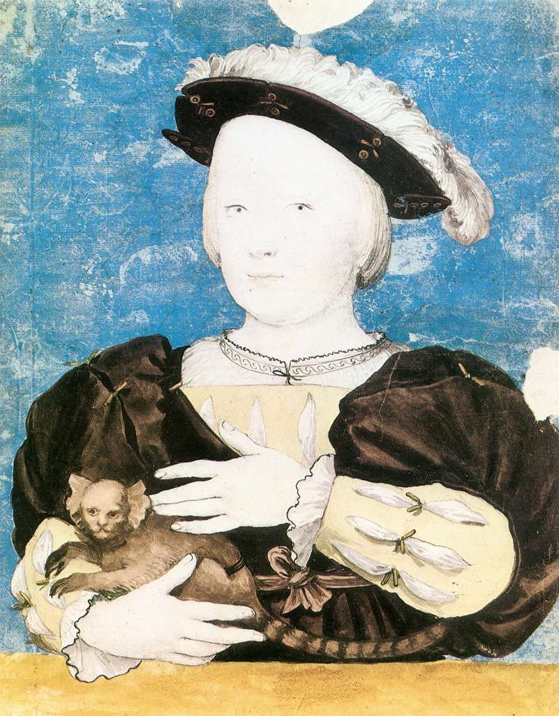 Hans Holbein The Younger. Portrait of Prince Edward with a monkey