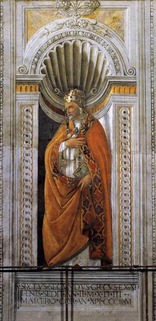 Sandro Botticelli. Bishop Sixtus II