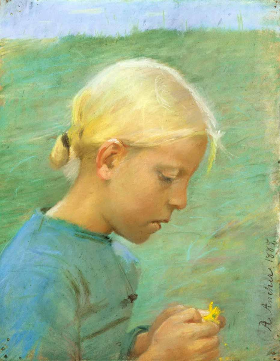 Anna Anchor. Girl with a flower