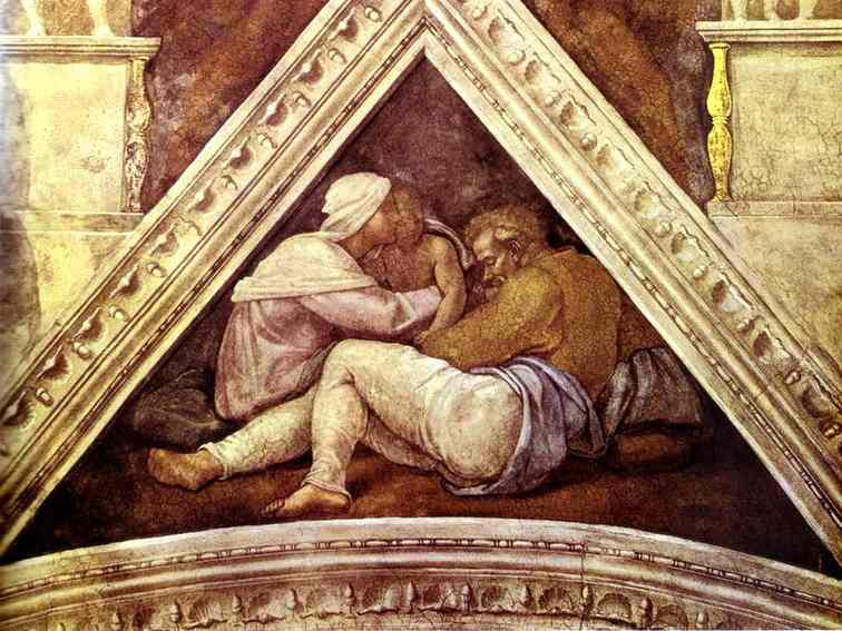 Микеланджело Буонарроти. Иехония и Салафииля