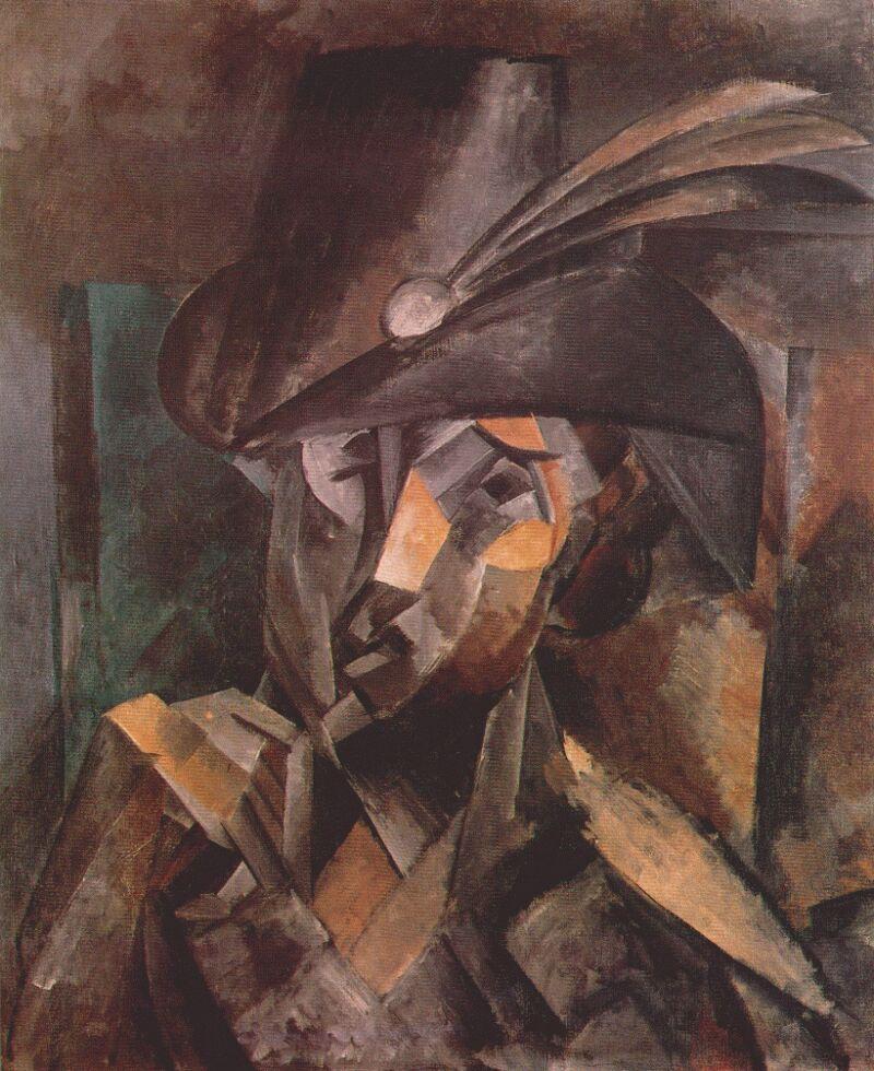 Пабло Пикассо. Женщина в черной шляпе