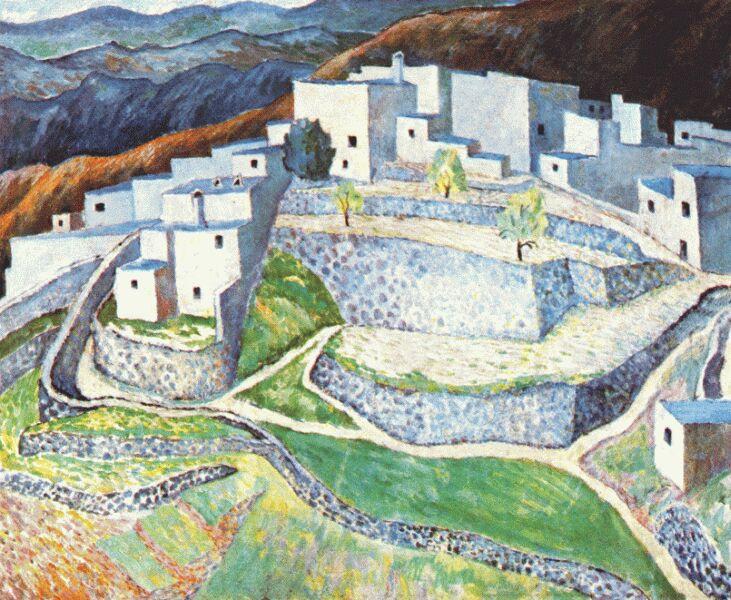 Дора Каррингтон. Горный город в Андалусии
