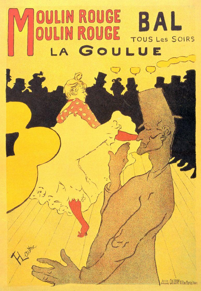 "Анри де Тулуз-Лотрек. ""Мулен Руж"". Ла Гулю, плакат"
