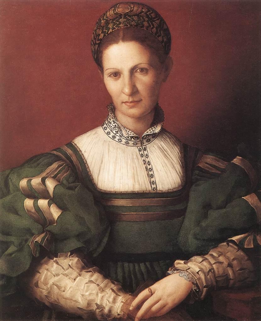 Agnolo Bronzino. Portrait of a lady in green